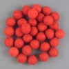 Handmade Felt Accessories - 10mm Balls - Xmas Red